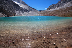 Sea of milk. Sunshine, blue sea of milk, clear, transparent, Sichuan Daocheng County royalty free stock photos