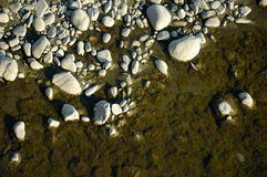 Sea ​​stone shore texture Royalty Free Stock Photo