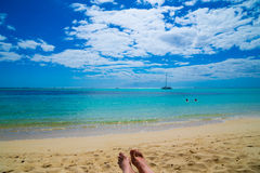 Sea ��view from a sunbed Stock Photo