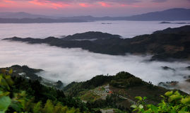 Sea Of Clouds In Ziquejie Royalty Free Stock Photos