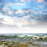 Sea. Abstract scene shining sea and change landscape stock image