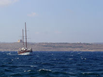 Sea. Yachting and sea cruises - Malta, Mediterranean Sea Royalty Free Stock Photo
