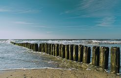 Sea. Breakwater on the sea, nice view Stock Photo