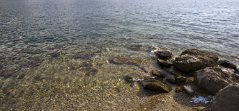 Sea. Part of the beach on the Adriatic Royalty Free Stock Photography