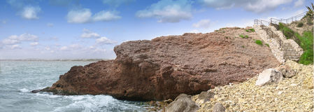 Sea. Panorama of a sea beach in Spain Royalty Free Stock Photo