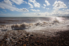 The Sea. A view of the Sea taken at Sidmouth, Devon, UK stock photos