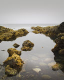 Sea. Slow shutterspeed picture at the coast of lanzarote Royalty Free Stock Images