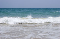 Sea. Beautiful sea scenery,small waves hurry to the sand Royalty Free Stock Photography