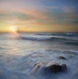The sea. Summer sea coast, a sunset over the sea Stock Photo