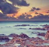The sea. Summer sea coast, a sunset over the sea Royalty Free Stock Photography