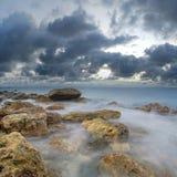The sea. Sea coast at sunset the sun, the summer sea Royalty Free Stock Photo