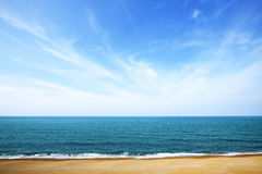 Sea. Blue calm sea and sky Royalty Free Stock Images