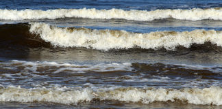 Sea. Stormy sea and big waves Royalty Free Stock Images