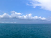 Sea. Ocean - clouds background royalty free stock photos