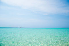 Sea. Sky and sea from Thailand Stock Photos