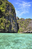 The sea. The clear emerald waters in pp island Stock Photo