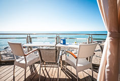 At the sea. Cafe at the beach of caorle (italy Stock Image