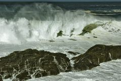 Sea. Strong storm on the coast of galicia Royalty Free Stock Photography