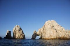 Sea. Panoramic of The Arch of Cabo San Lucas, Baja California Sur, Mexico Stock Image