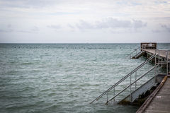 Sea. It was taken at Key West on a cloudy day Royalty Free Stock Photo