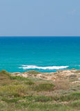 Sea. Coast of Mediterranean sea in Israel stock image