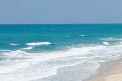 Sea. Coast of Mediterranean sea in Israel stock photography