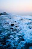Sea. Image of early morning sea water before sunrise. picture taken from pier Royalty Free Stock Photography