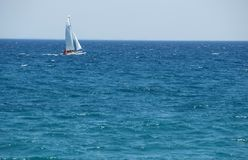 Sea. Blue sea and clear sky Royalty Free Stock Image
