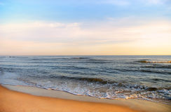 Sea. Coast in the morning lights Royalty Free Stock Photography