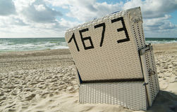 Sea. Beachchair on the island sylt, germany Royalty Free Stock Photography