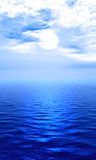 Sea. Naturalistic illustration of the sea or ocean at quiet weather Royalty Free Stock Images