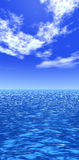 Sea. Naturalistic illustration of the sea or ocean at quiet weather Stock Photos