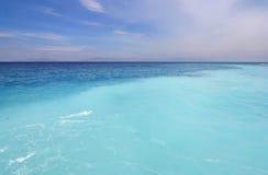 Sea. Mediterranean Seascape, sea and horizon near Rhodes stock photo