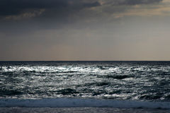 Sea. Evening waves Royalty Free Stock Photo