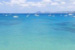 Sea. Blue sea in Martinique island Stock Photography