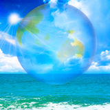 Sea. Abstract scene shining sea and change the celestial landscape Royalty Free Stock Images