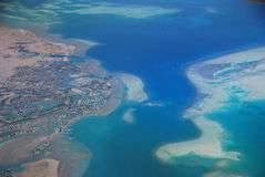 Sea from above Royalty Free Stock Image