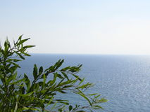 The sea above Rosh Hanikra Israel Royalty Free Stock Photography