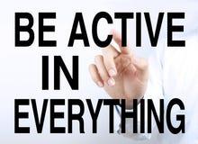 Sea activo en todo Fotografía de archivo libre de regalías
