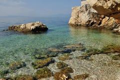 The sea. Adriatic sea in rijeka in croatia Stock Image