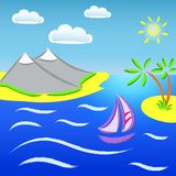 Seascape royalty free illustration