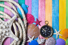 Sea adventures background Stock Photography