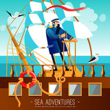 Sea Adventures Cartoon Illustration Stock Photo