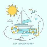 Sea adventures concept Stock Photo