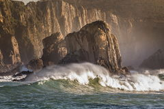 Sea against cliff Royalty Free Stock Image