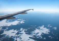 Sea from aircraft Stock Photography