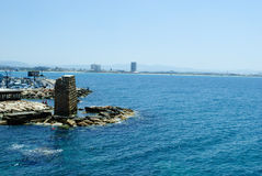 Sea in Akko (Acre), israel Royalty Free Stock Image