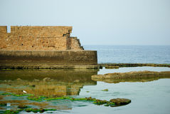 Sea in Akko (Acre), Israel Royalty Free Stock Photography
