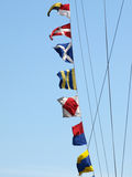 Sea alarm flags. Stock Photo