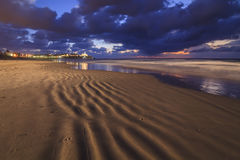The sea along the sandy shores of Tel Aviv Royalty Free Stock Image